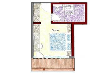 Zimmerplan Zimmer Tristner