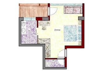 Zimmerplan Zimmer Panorama
