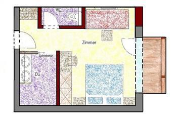 Zimmerplan Zimmer Talblick