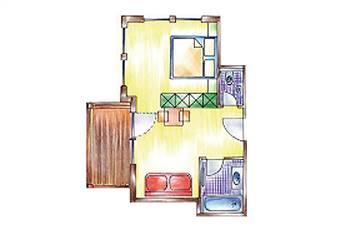 Zimmerplan Zimmer De Luxe