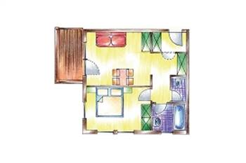Zimmerplan Familienappartement Edelweiss
